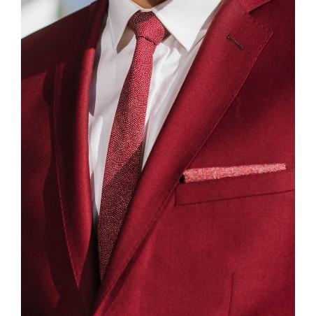 Sharkskin Burgundy Japanese Slim Tie